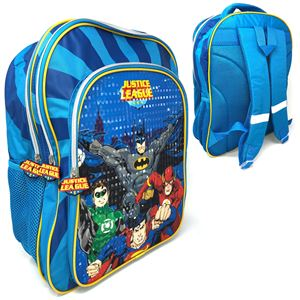 Deluxe 43cm Large Backpack- Justice league