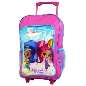 Deluxe 41cm Trolley Backpack Shimmer & Shine