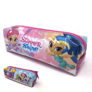 Rectangular pvc pencil case shimmer and shine