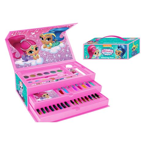 52pcs Colouring Toolbox with handle Shimmer and shine