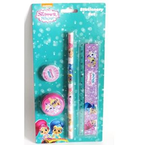 Stationery Set 4pce Shimmer and Shine